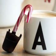 Chokolade på pebermyntestok til varm chokolade