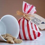 Mandler med hvid chokolade og lakrids