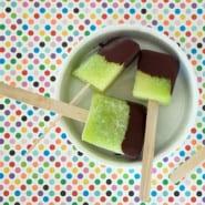 melon og chokolade is