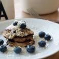 blåbær/kokos pandekager