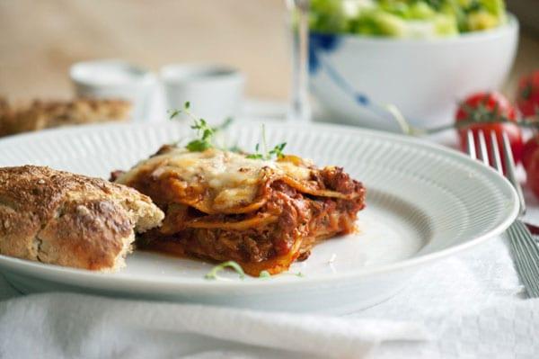 Lasagne - Opskrift på lasagne til 4 personer