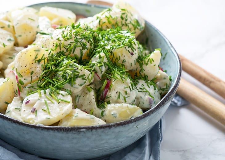 kartoffelsalat opskrift