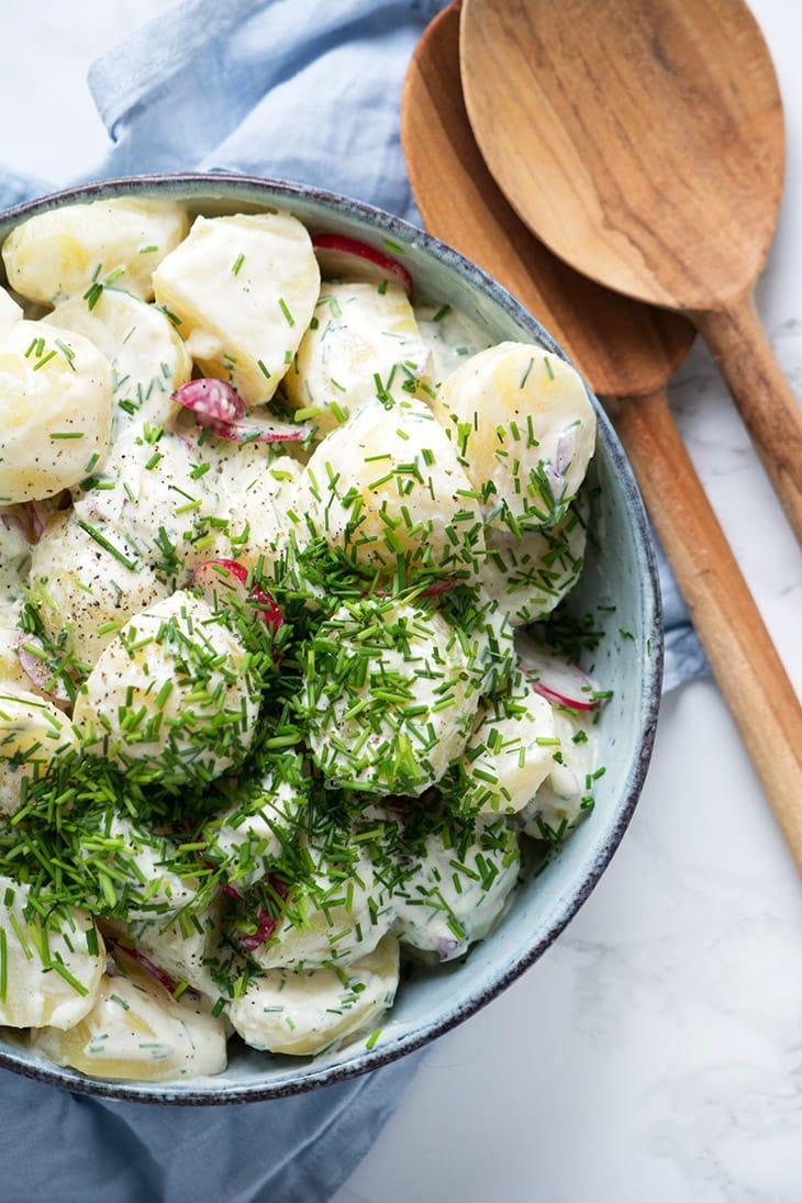 Kartoffelsalat Bedste Opskrift På Klassisk Kartoffel Salat