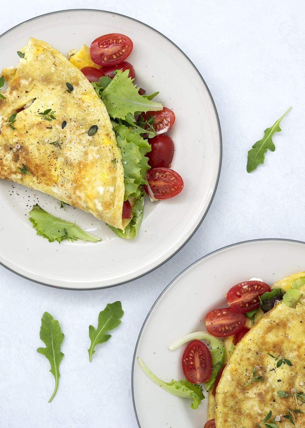 omelet feta