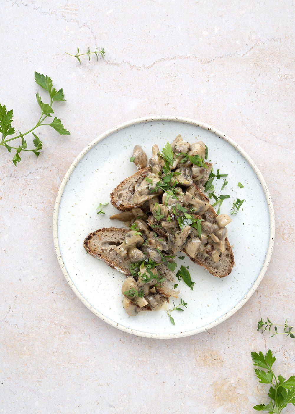 svampe med fløde