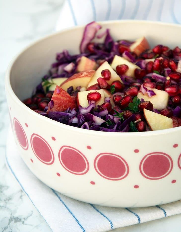 rødkålsssalat dressing