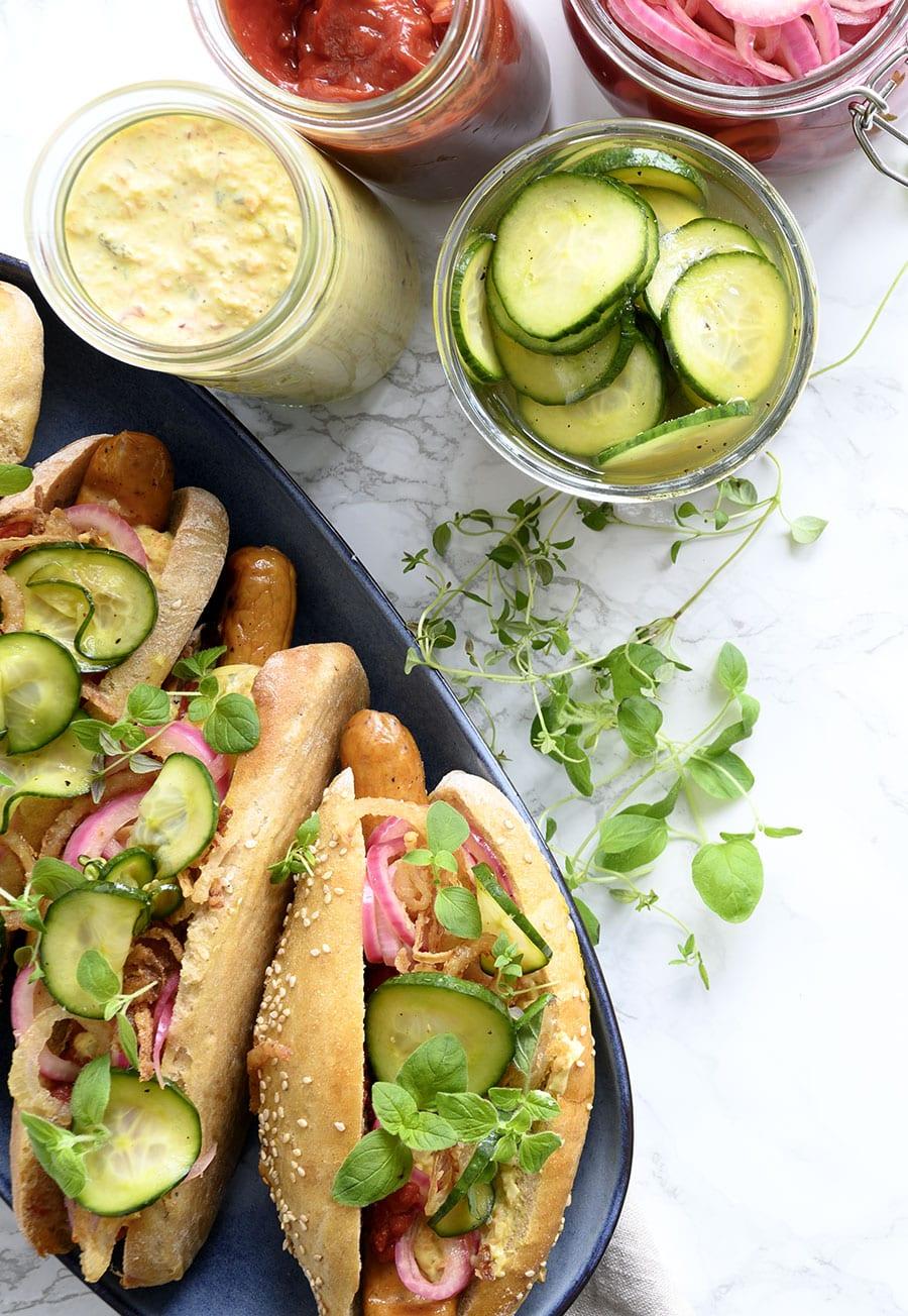 hjemmelavet hotdog