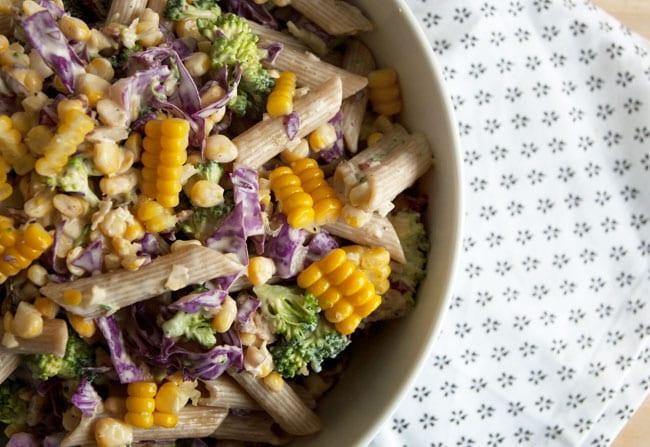 pasta med salat