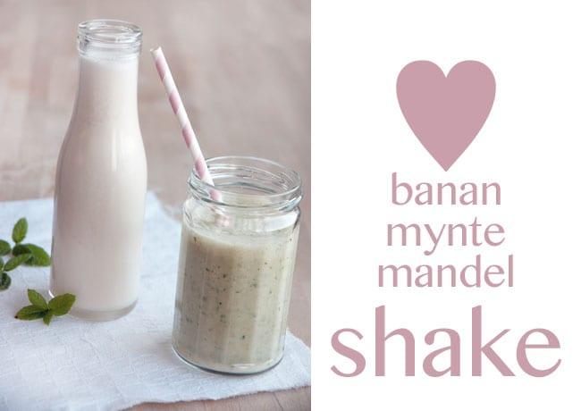 Banan & mynte shake