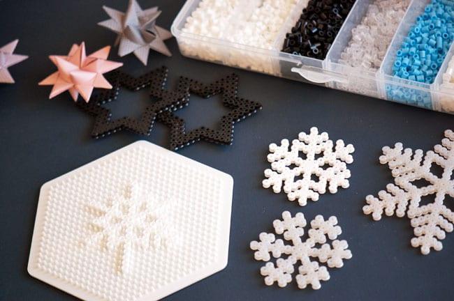snefnug af hama perler