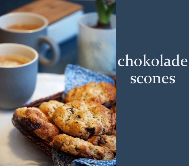 Chokoladescones - opskrift på den bedste chokolade scone