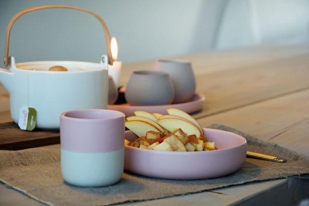 Lille sneak peak af vores nye spisebord hjemmelavet med planker