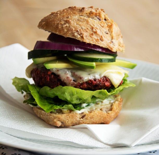 vegetar burger opskrift
