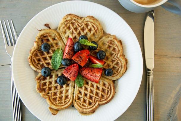 vafler til morgenmad