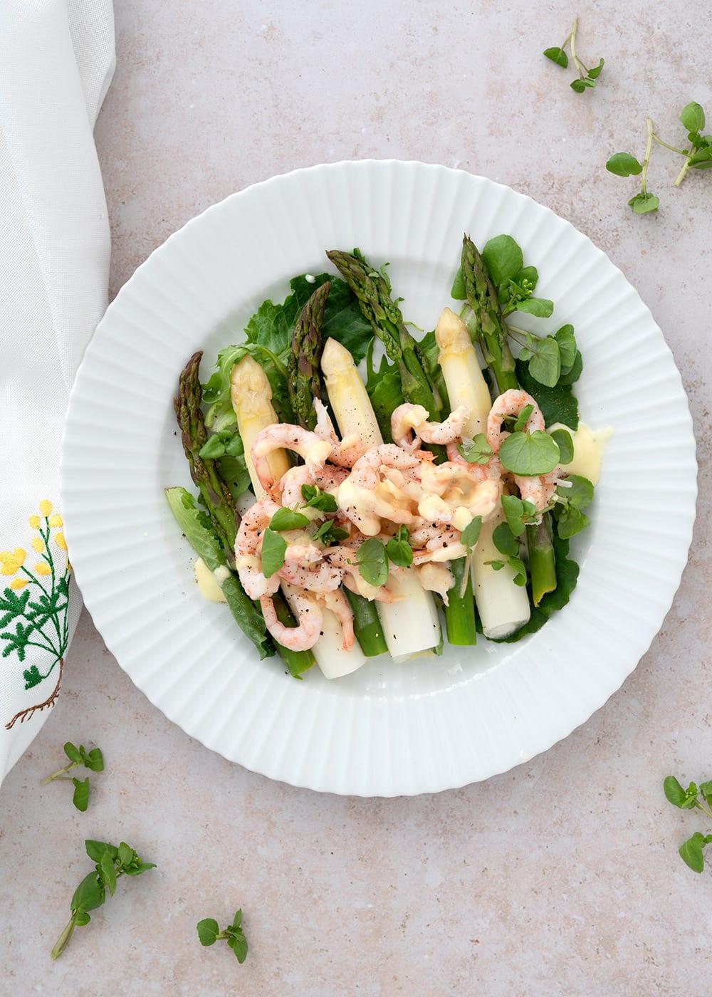 asparges sauce mousseline