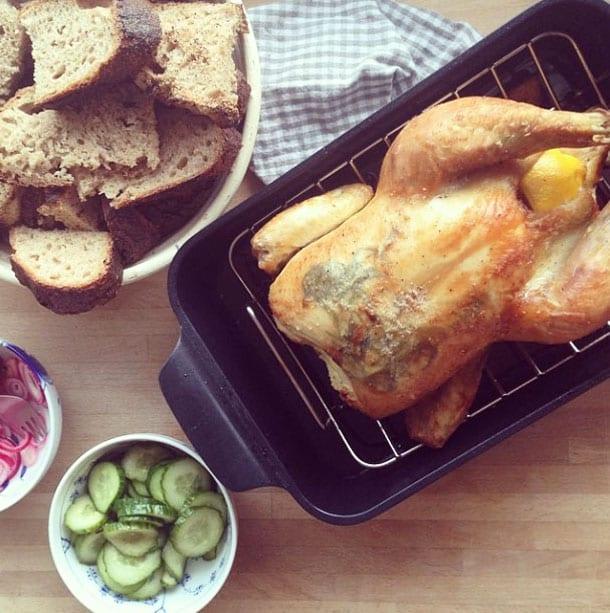 tilberedning af hel kylling i ovn