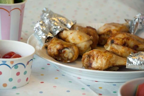 marinerede kyllingelår ovn