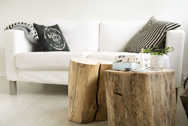sofaben med washitape