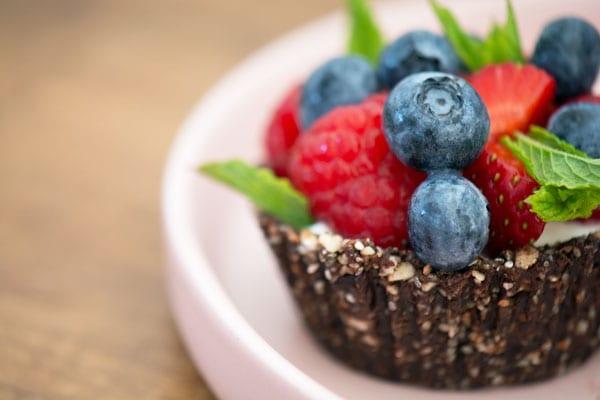 dessert med bær