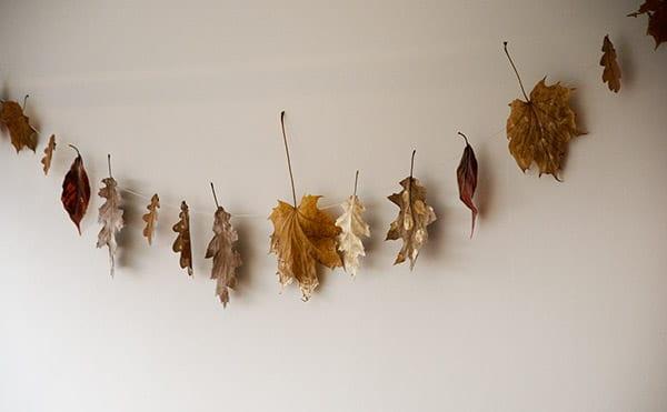 efterårs guirlande med blade