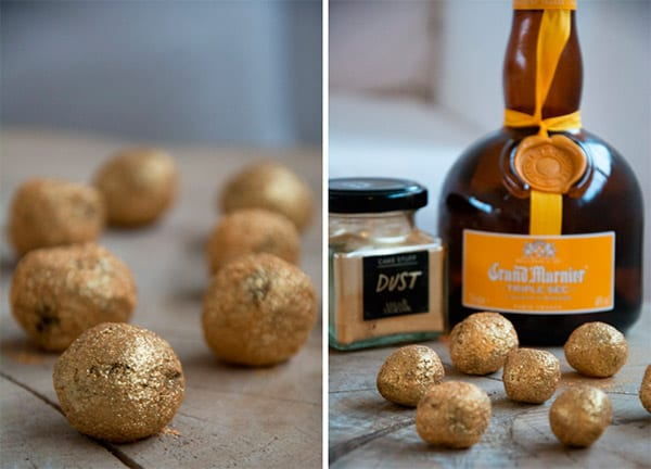 konfektkugler guld og grandmarmier