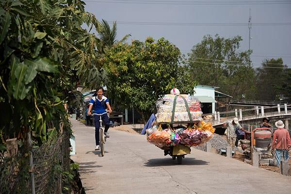 Village ved Mekong Delta