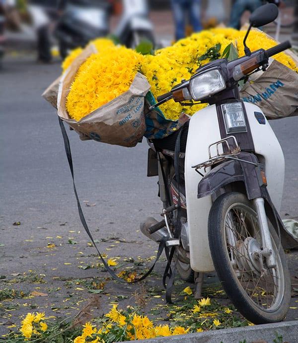 scooter-med-blomster