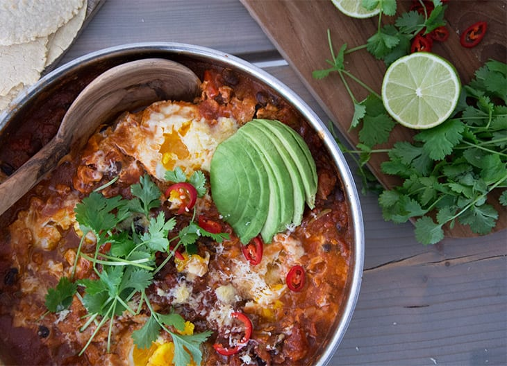 Huevos Rancheros mexicansk