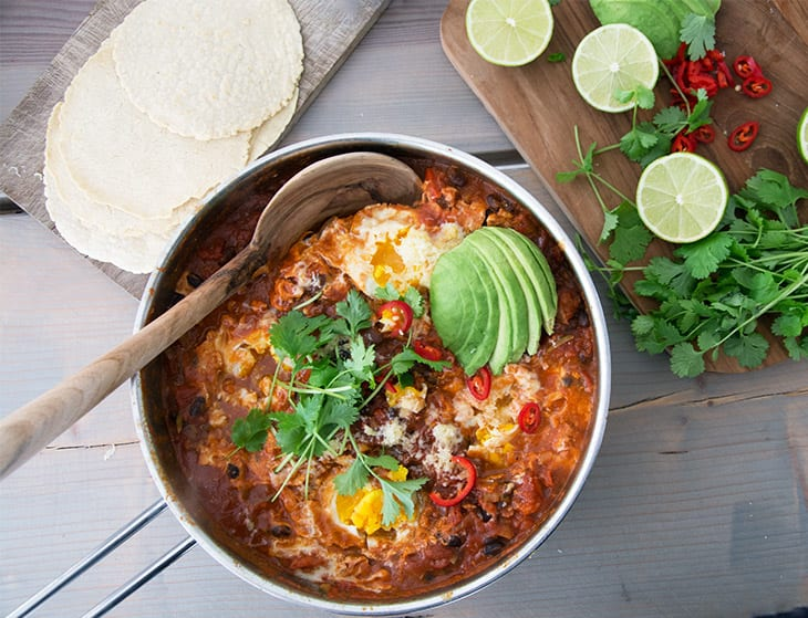 Huevos Rancheros mexicansk morgenmad