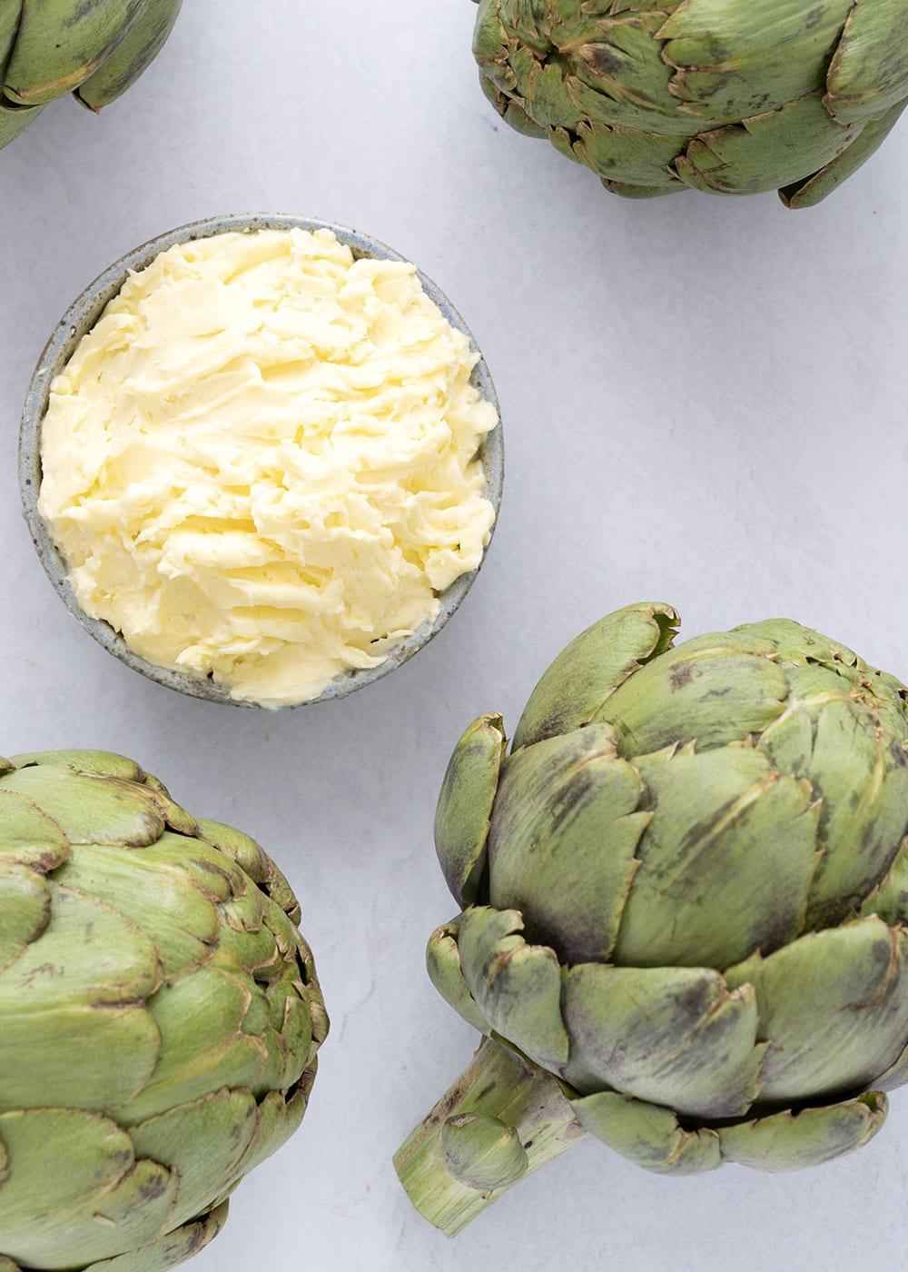 artiskokker rørt smør