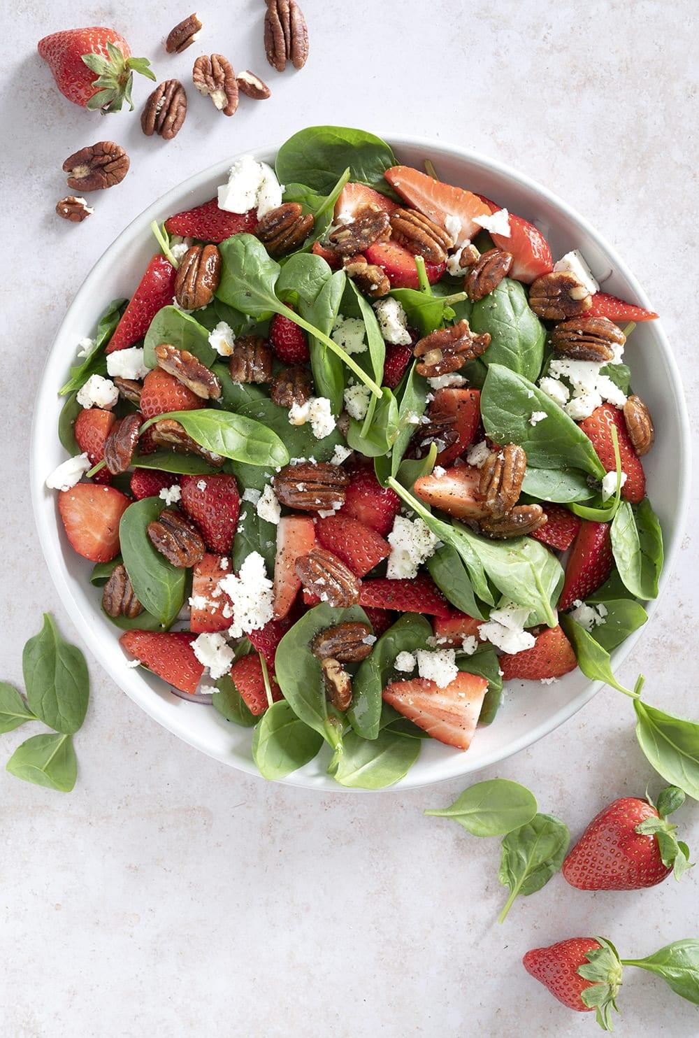 jordbær salat