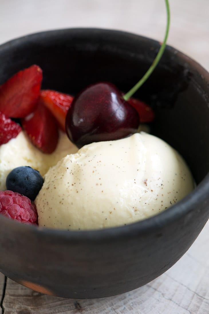 hjemmelavet vanilje is