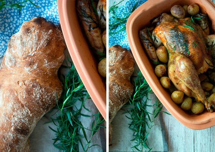 Kylling rømertopf estragon