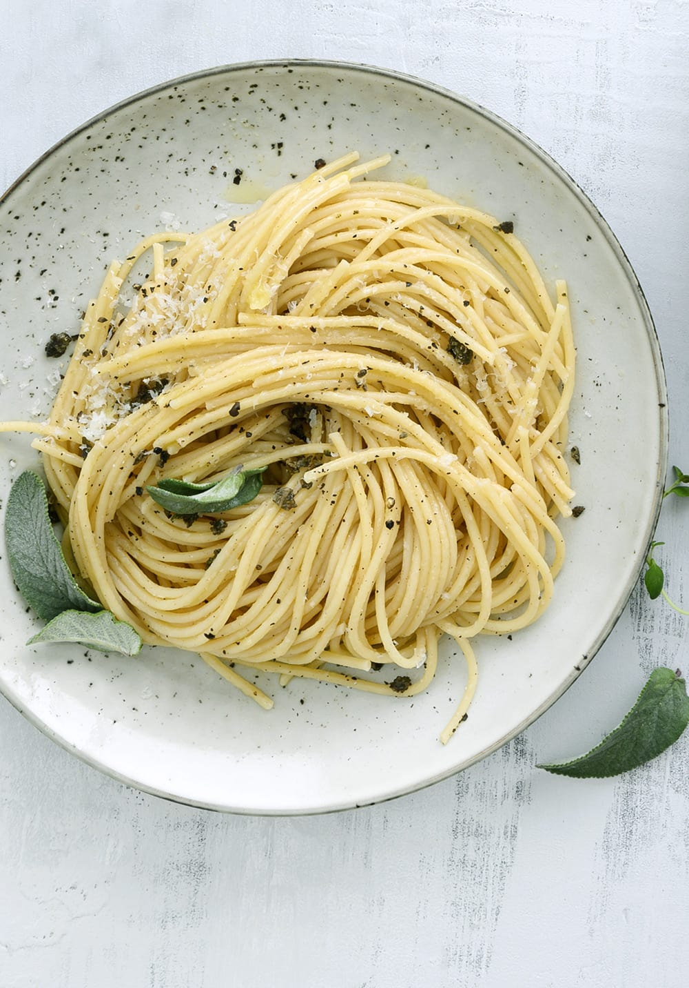 pasta med salviesmør