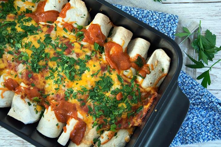 Enchiladas Med Kylling Bedste Opskrift På Den Skønne Tex Mex Ret