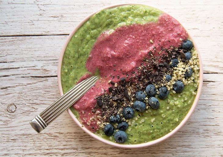Grøn smoothie med hindbær – som morgenmad