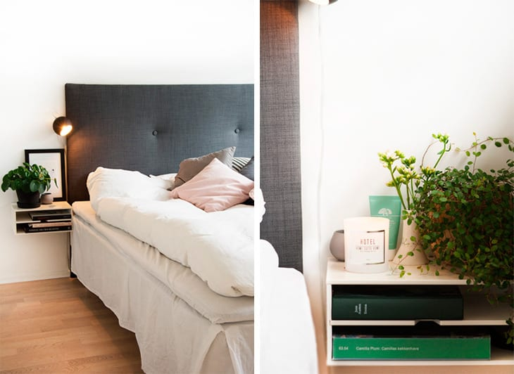 Soveværelse - DIY sengegavl og sengeborde inspiration