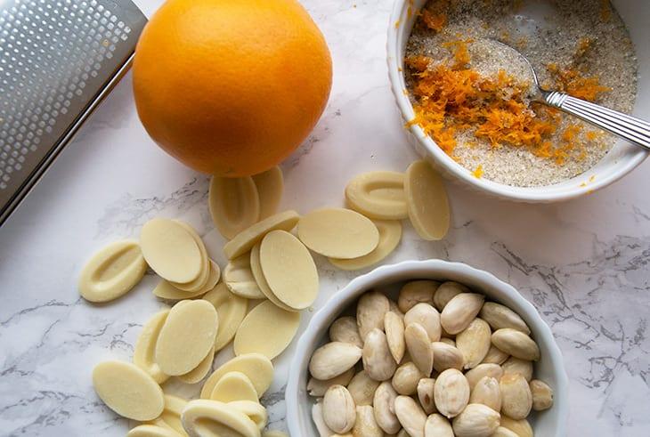 appelsin og hvid chokolade