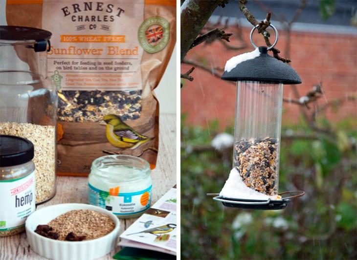Vildtfuglefoder - nemt og hjemmelavet og som tiltrækker fuglene i haven