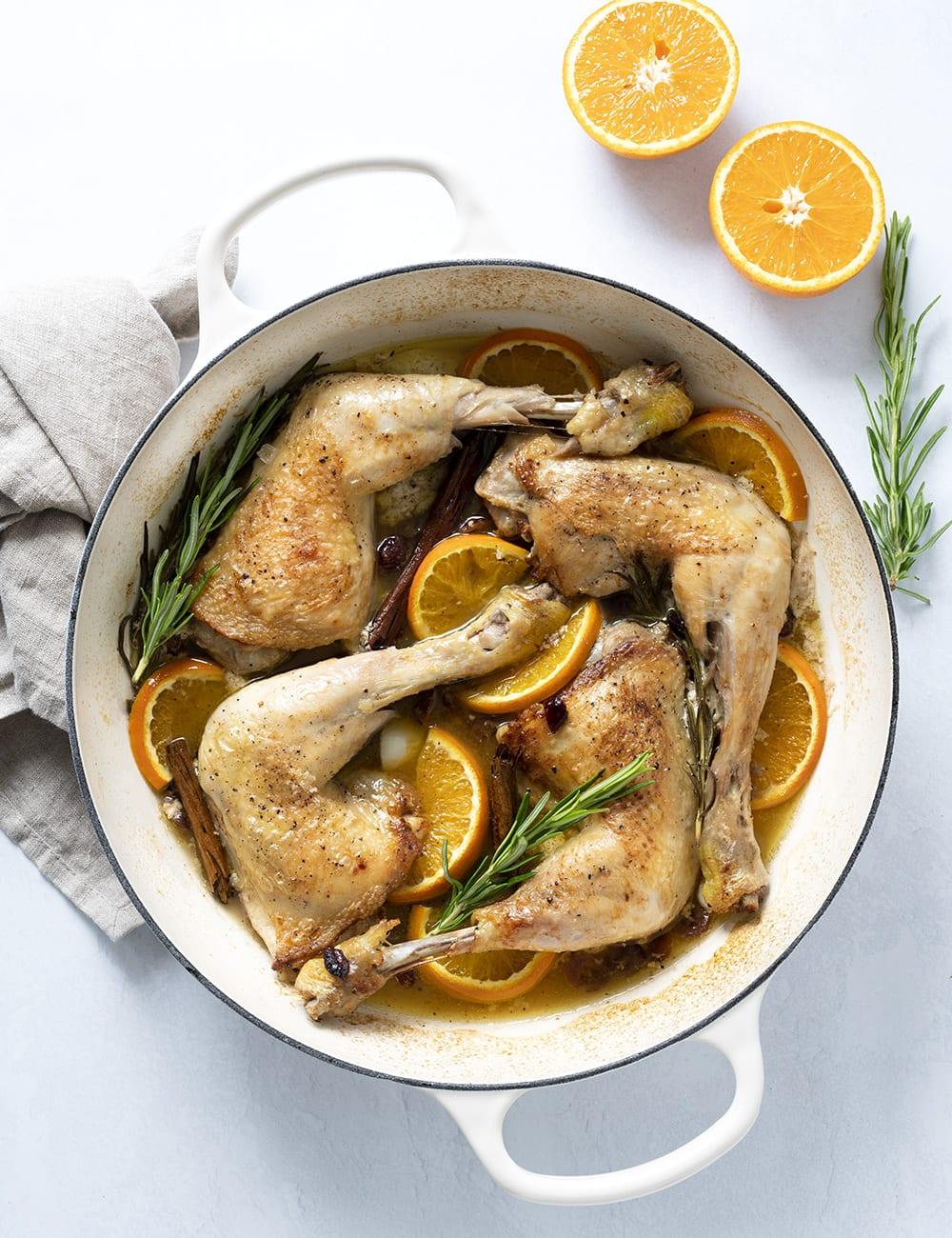 kylling med appelsin