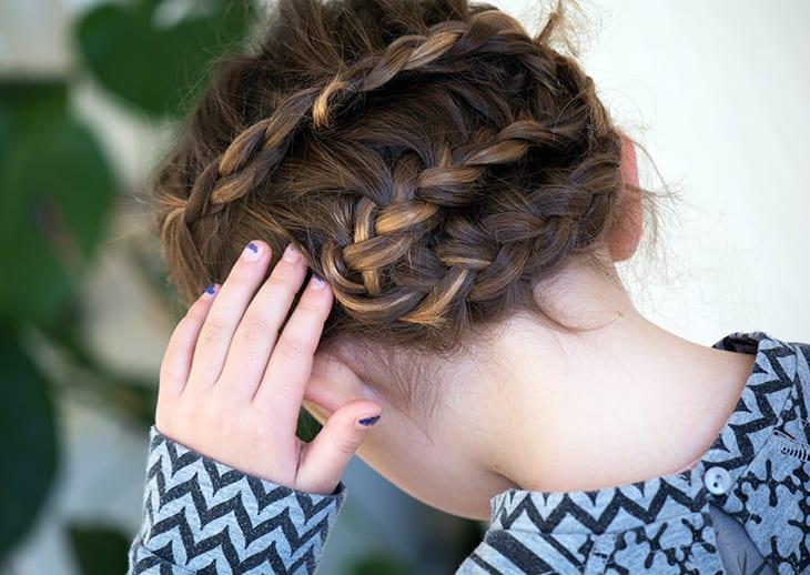 flettet hår zigzag