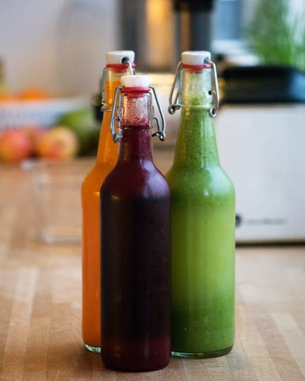 juice i tre farver