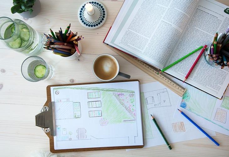 haveplanlægning tegning