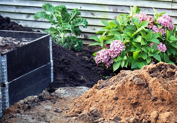 kompost i pallerammer