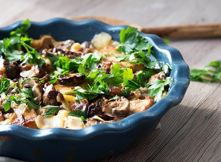 koteletter i fad champignon