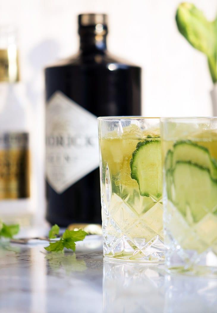 Gin og Tonic med mynteisterninger