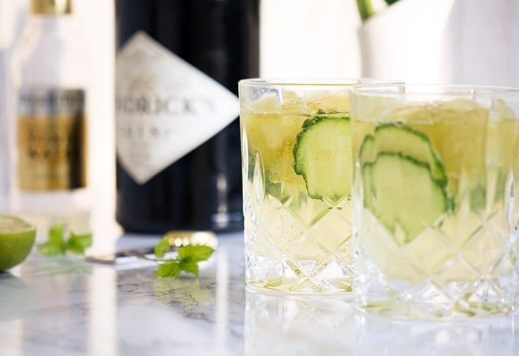 Gin og Tonic med mynte-isterninger