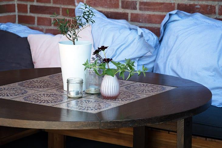lækkert gammelt hvidt sofabord