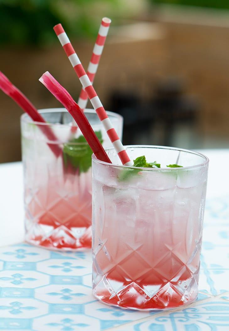 Rabarber Mojito Opskrift Sk N Frisk Pink Sommerdrink
