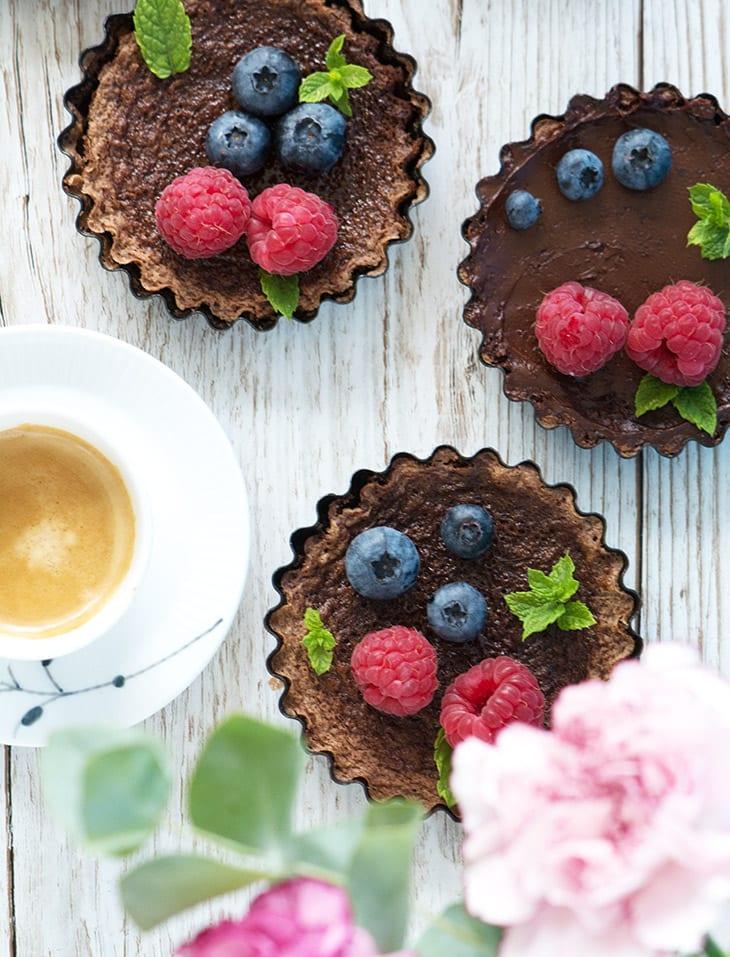 espresso chokolade kage